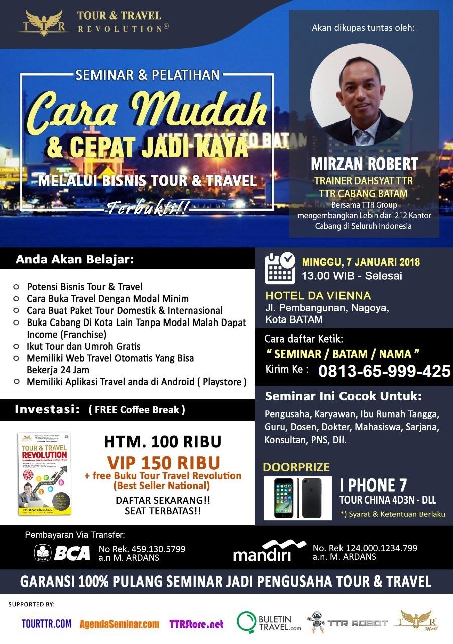 Seminar Bisnis Batam Tour Travel Revolution