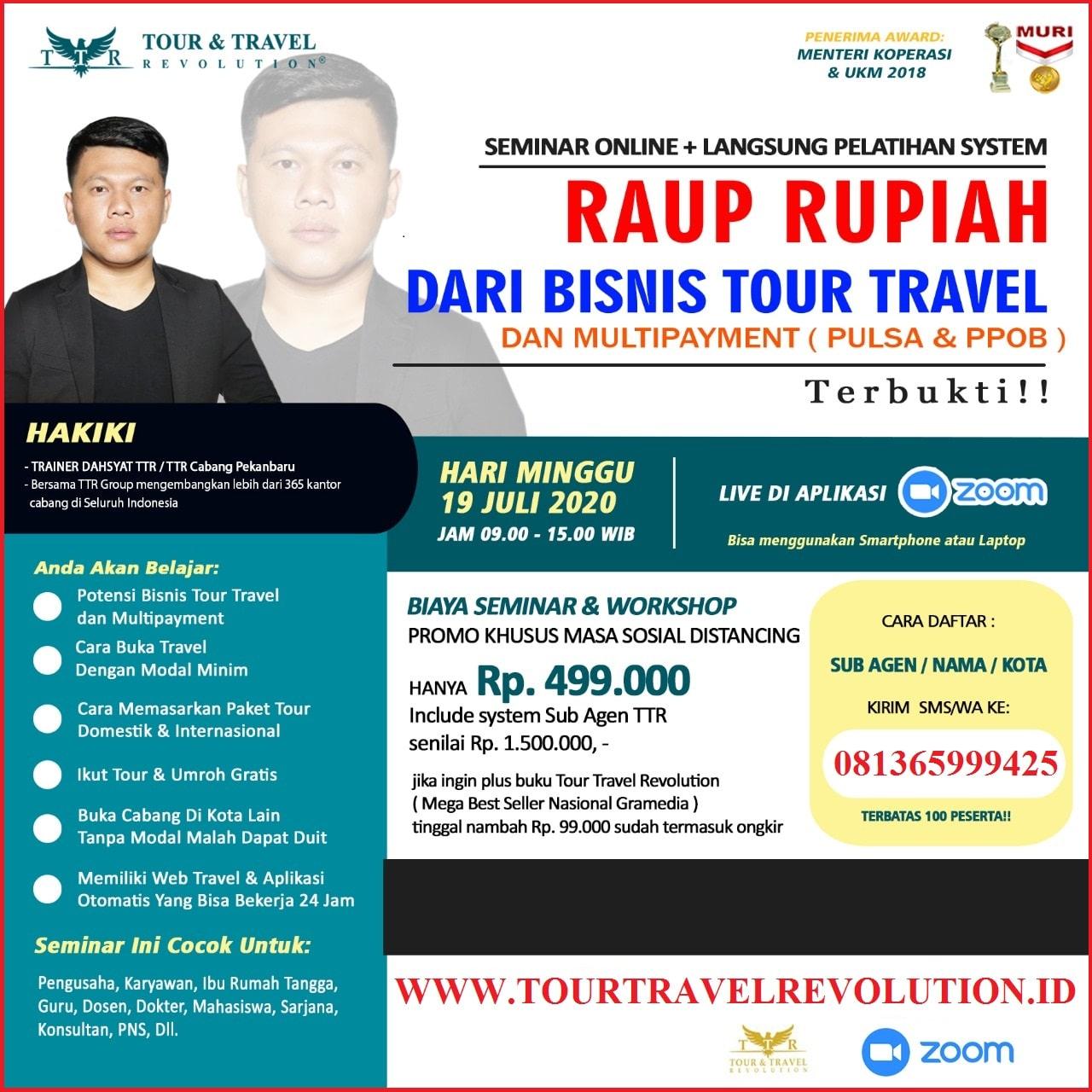 Seminar Online Tour Travel Revolution