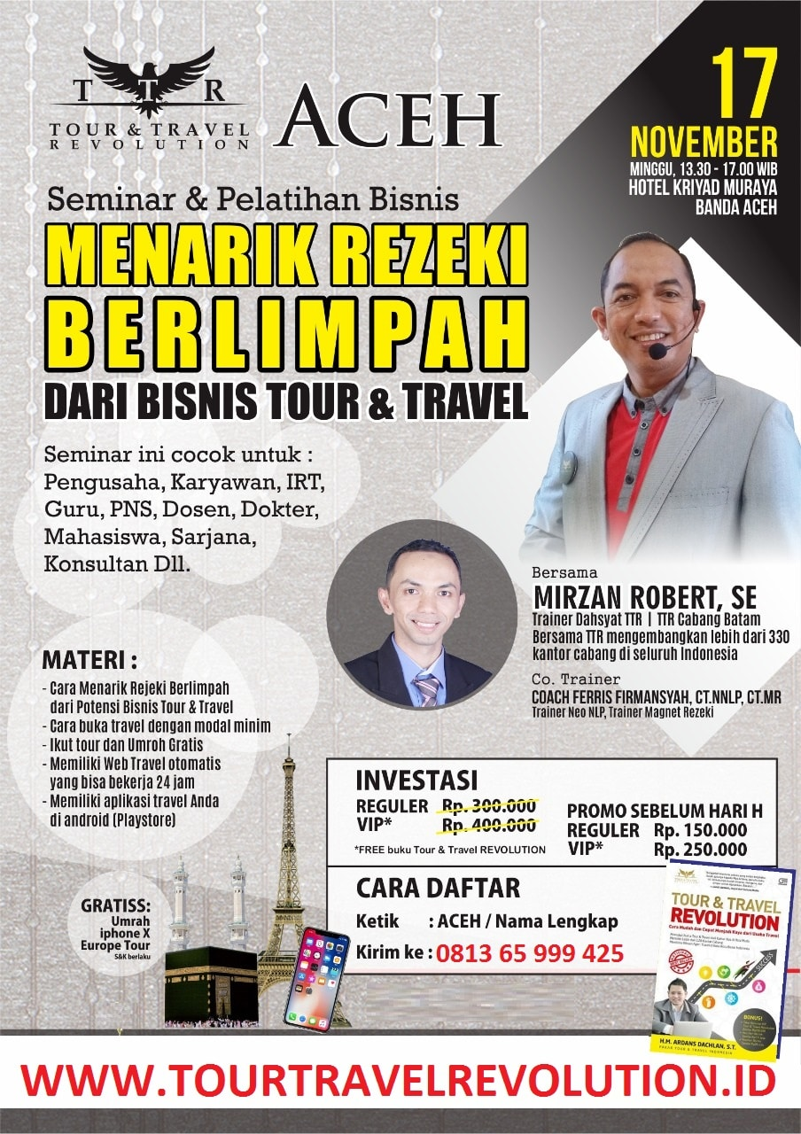 Seminar Tour Travel Revolution Aceh