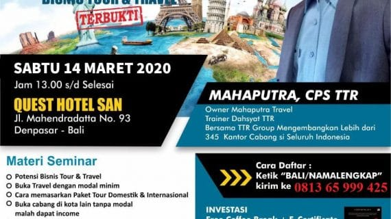 SEMINAR TOUR TRAVEL REVOLUTION BALI