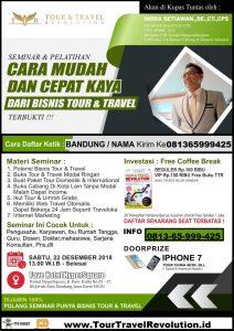 Seminar Tour Travel Revolution Bandung