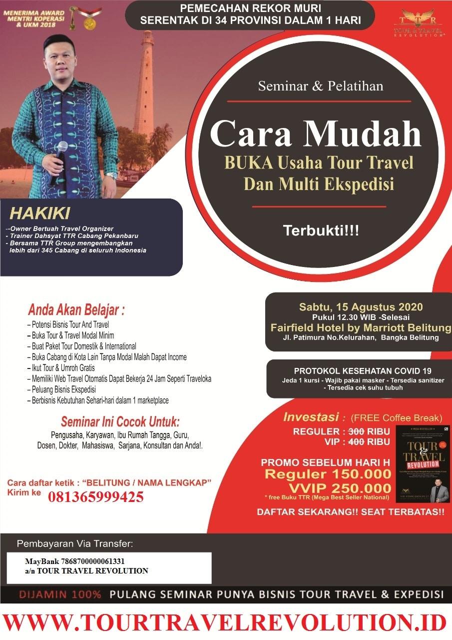 Seminar Tour Travel Revolution BangkaBelitung
