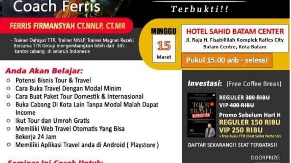 Seminar Tour Travel Revolution Batam
