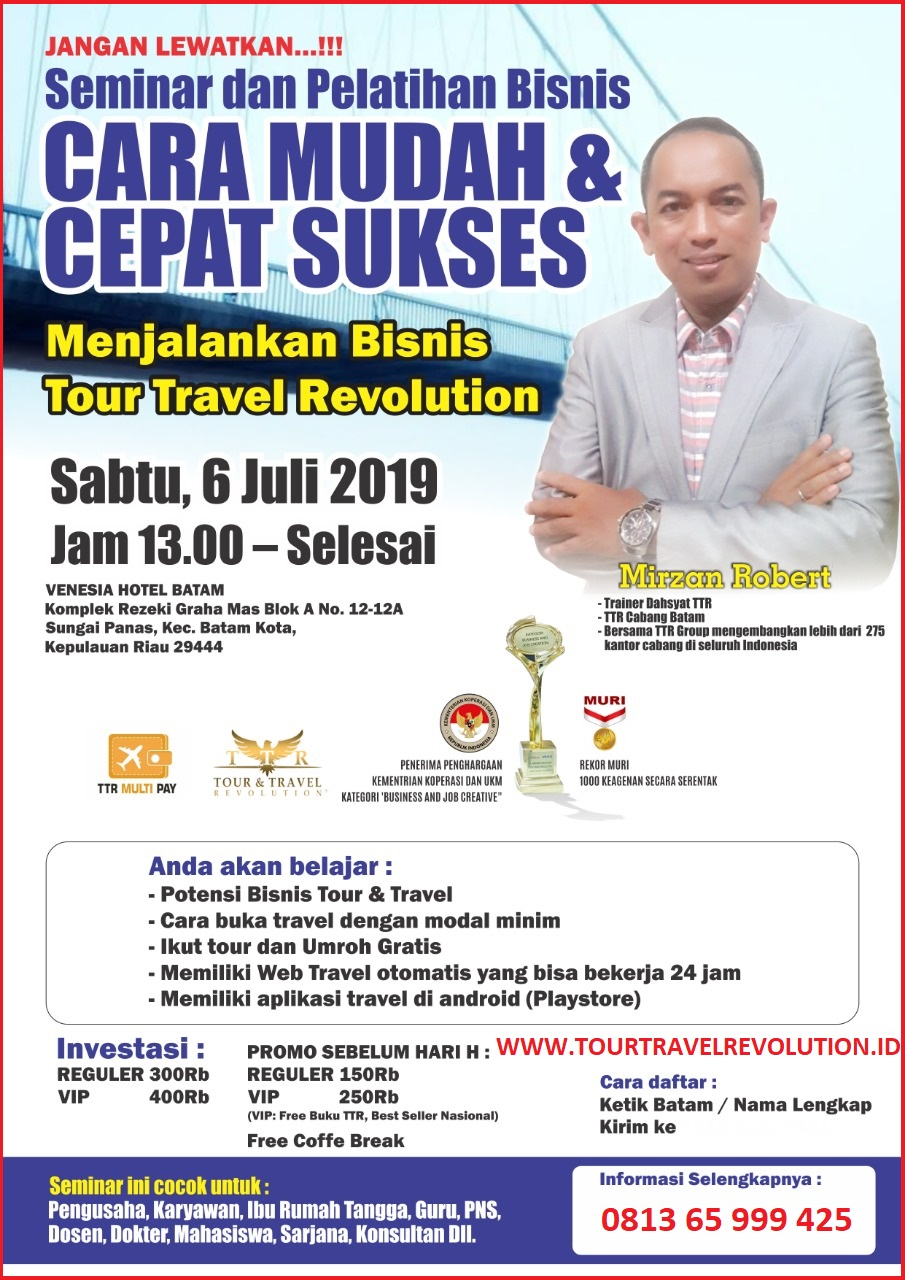 Seminar Tour Travel Revolution Batam