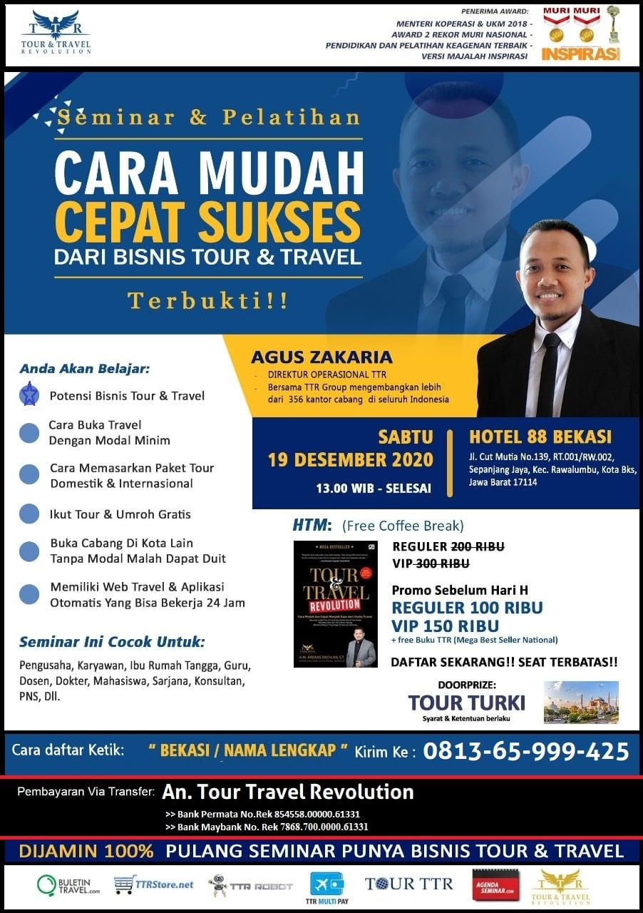 Seminar Tour Travel Revolution Bekasi