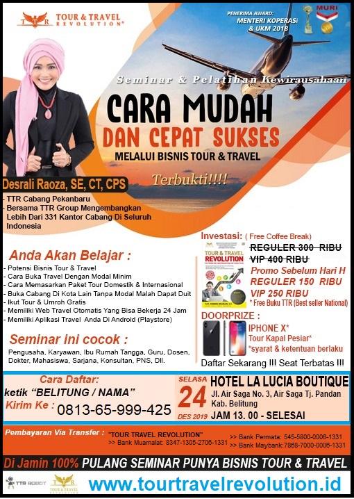 Seminar Tour Travel Revolution Belitung