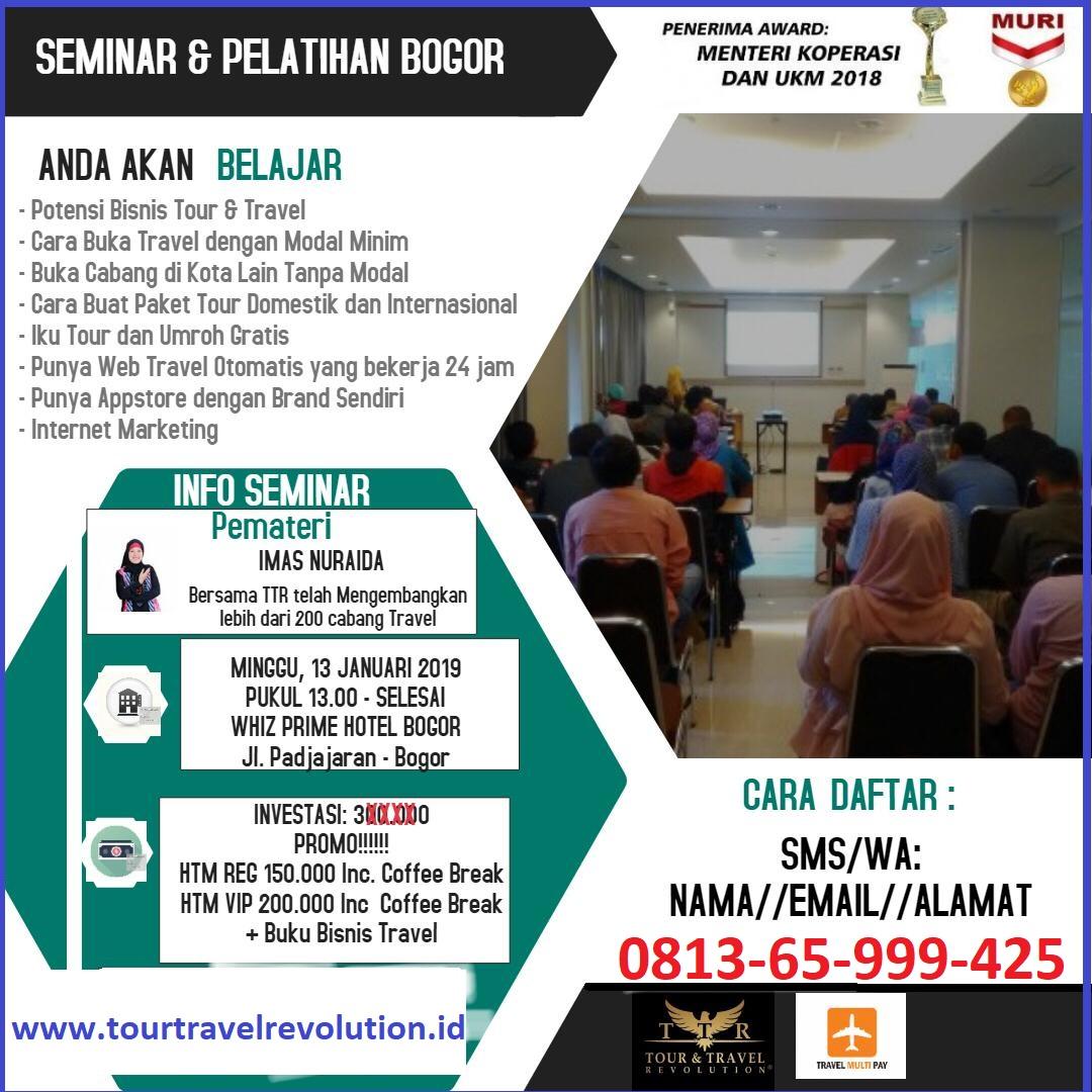 Seminar Tour Travel Revolution Bogor