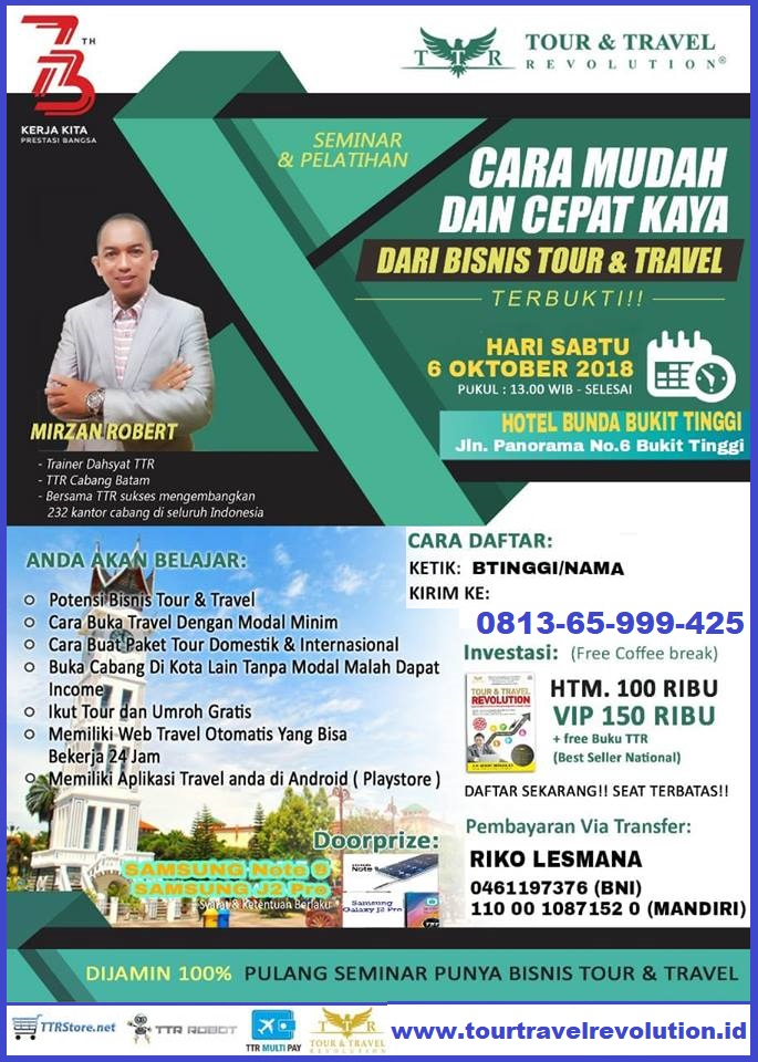 Seminar Tour Travel Revolution Bukittingi
