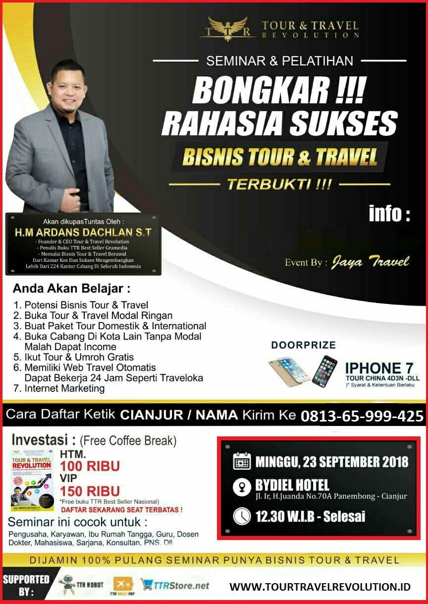 Seminar Tour Travel Revolution Cianjur