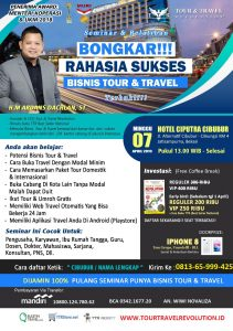 Seminar Tour Travel Revolution Cibubur