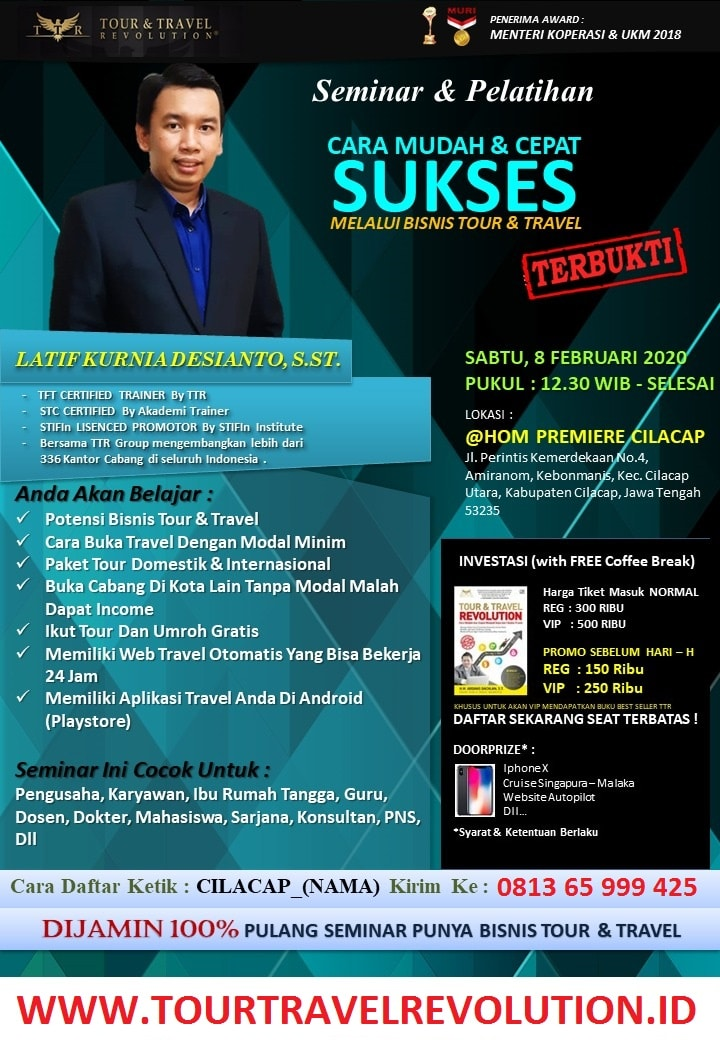 Seminar Tour Travel Revolution Cilacap