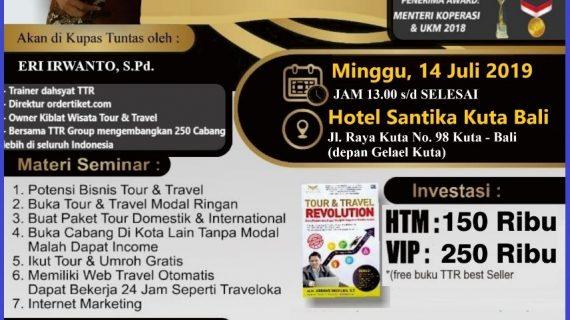 Seminar Tour Travel Revolution Denpasar Bali