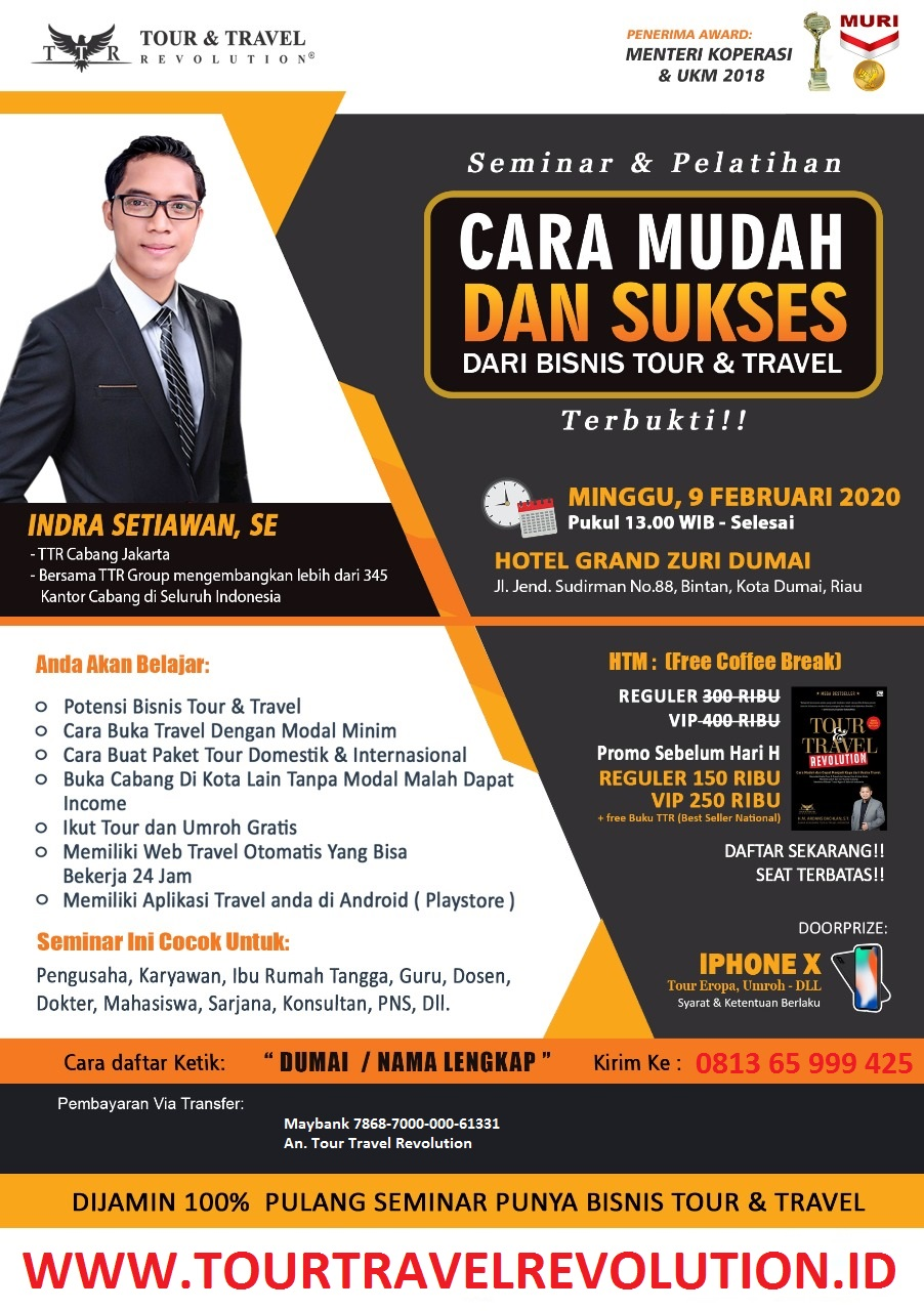 Seminar Tour Travel Revolution Dumai