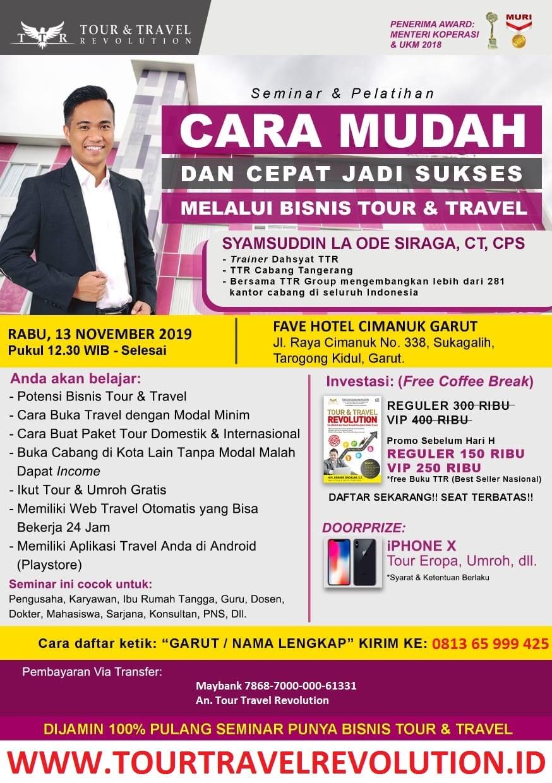 Seminar Tour Travel Revolution Garut