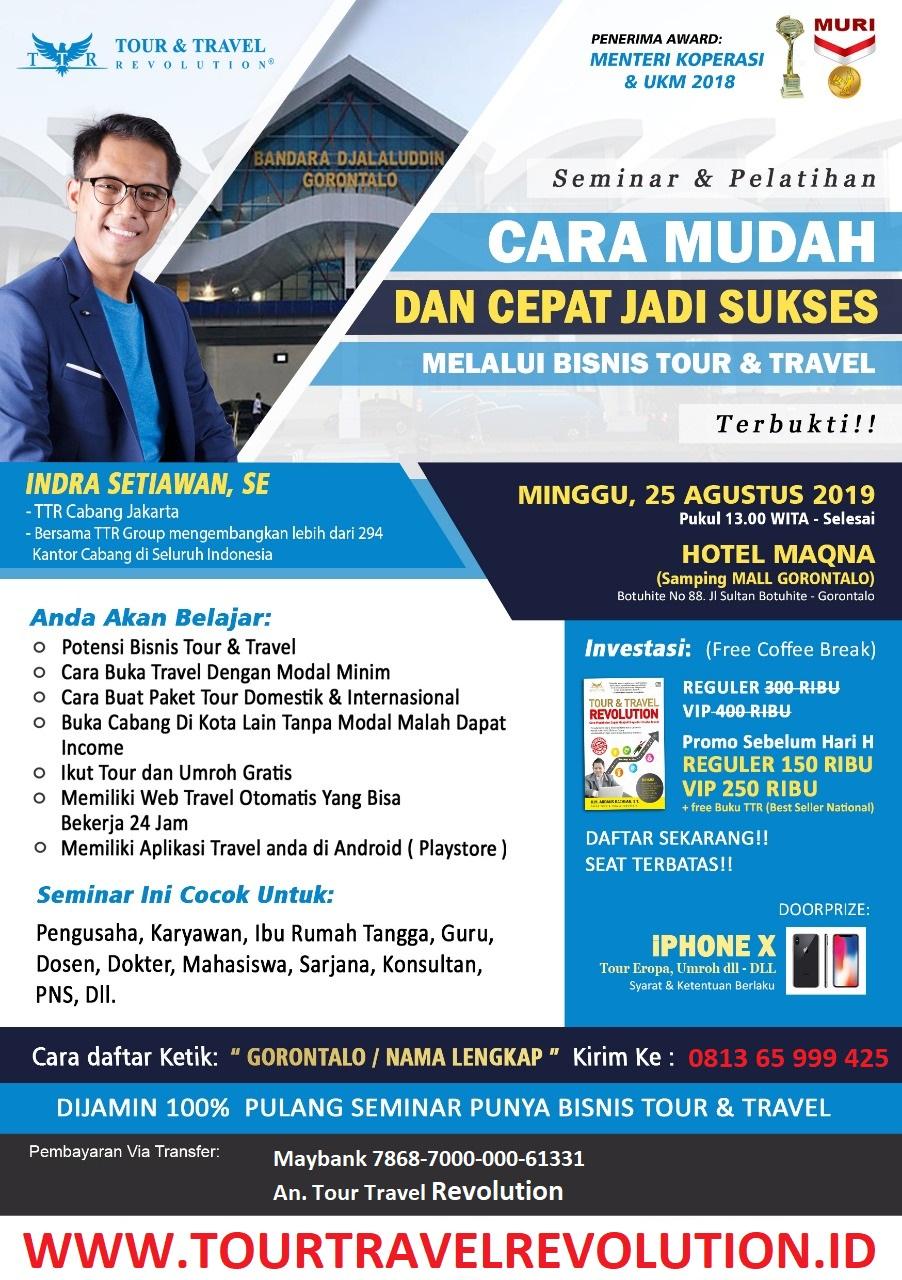 Seminar Tour Travel Revolution Gorontalo