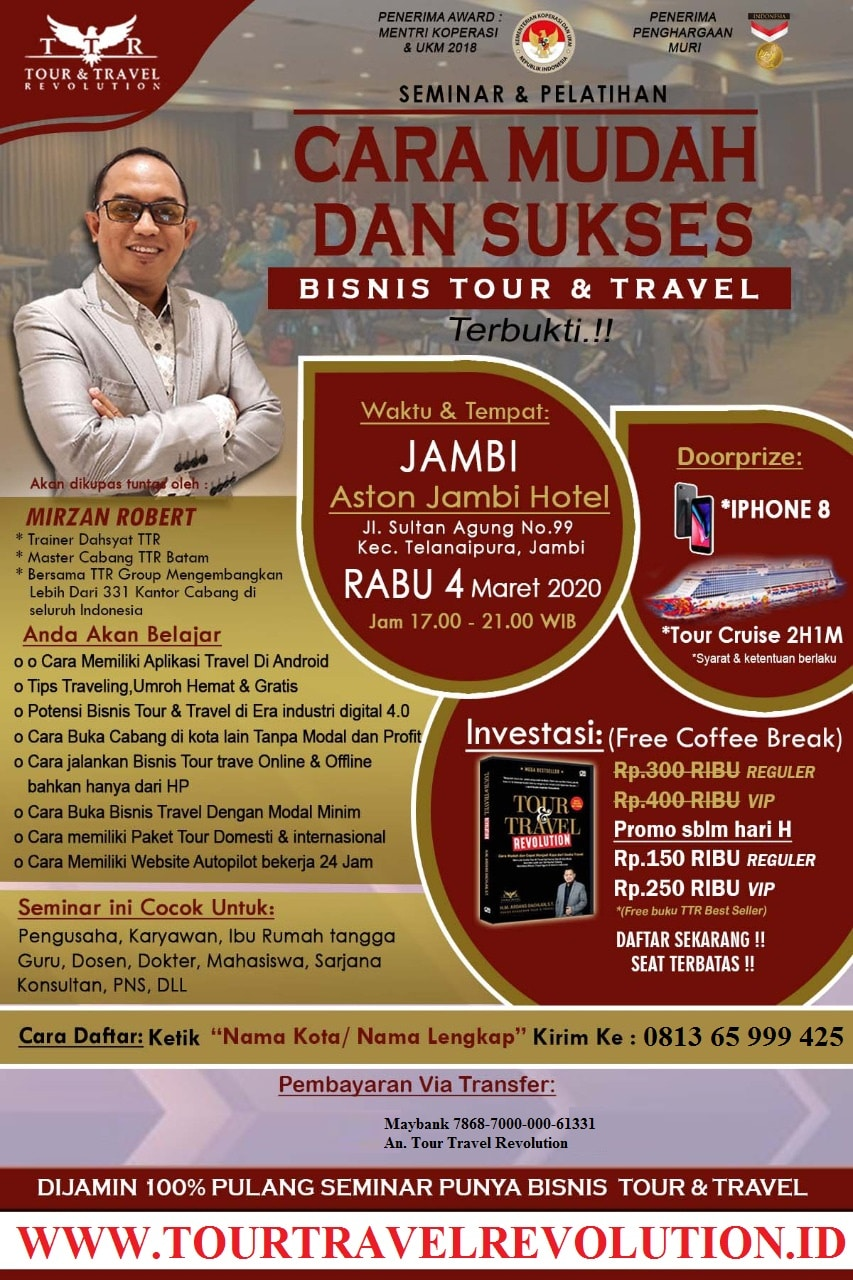 Seminar Tour Travel Revolution Jambi