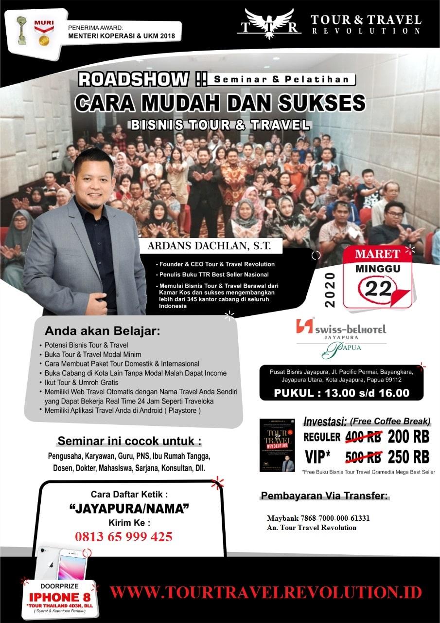 Seminar Tour Travel Revolution Jayapura Papua