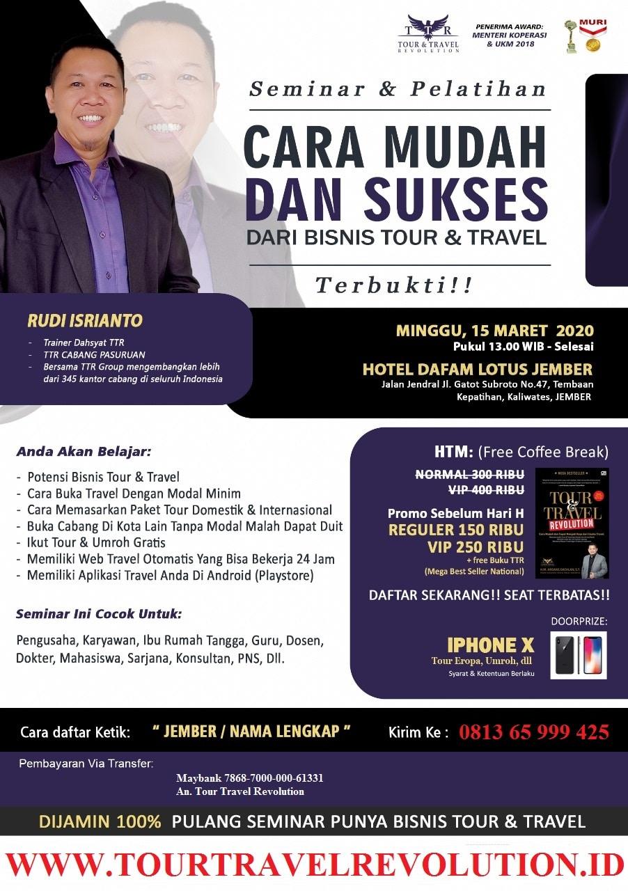 Seminar Tour Travel Revolution Jember