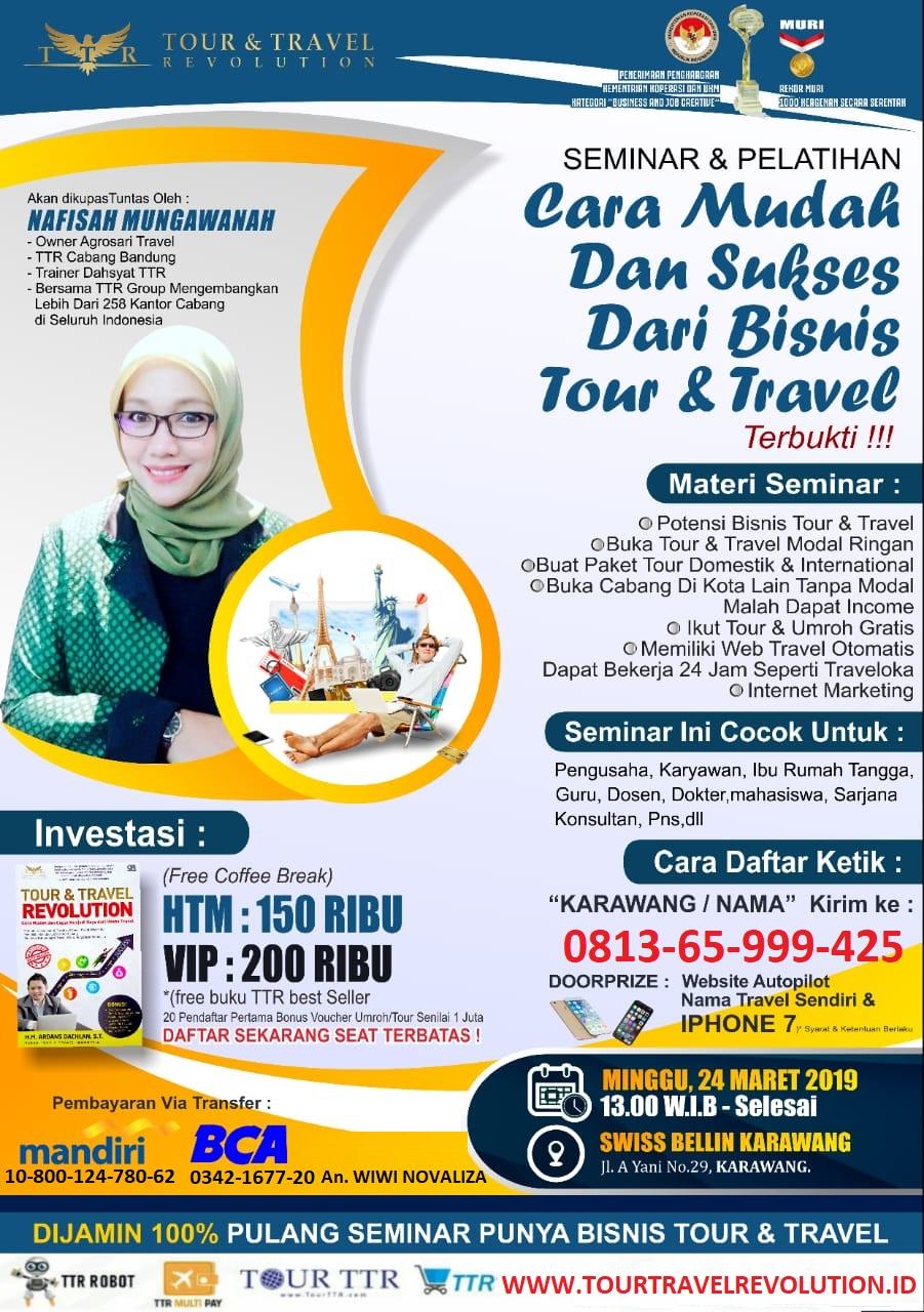 Seminar Tour Travel Revolution Karawang