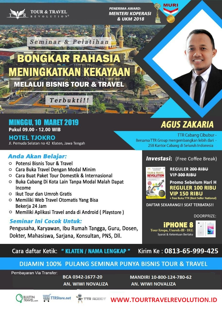 Seminar Tour Travel Revolution Klaten