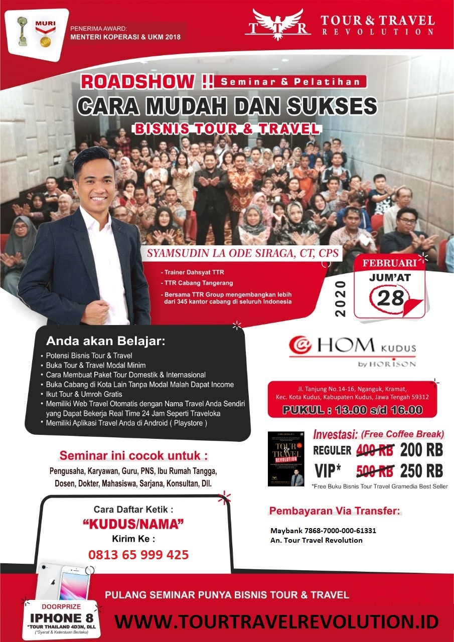Seminar Tour Travel Revolution Kudus