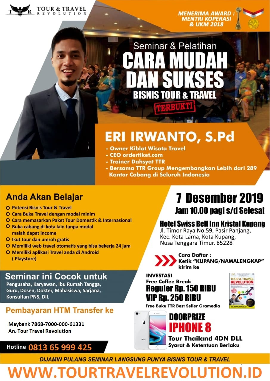 Seminar Tour Travel Revolution Kupang