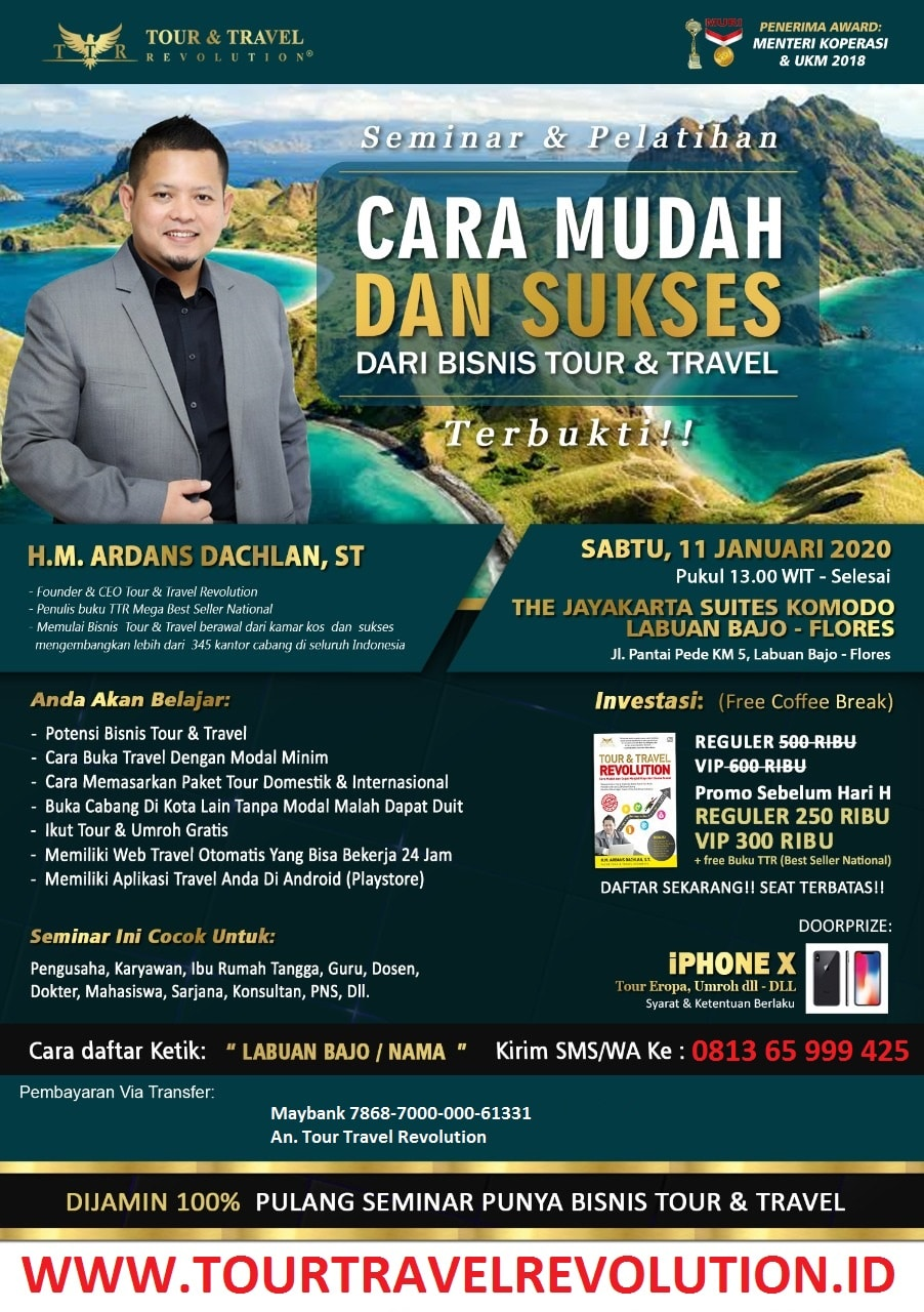 Seminar Tour Travel Revolution Labuan Bajo
