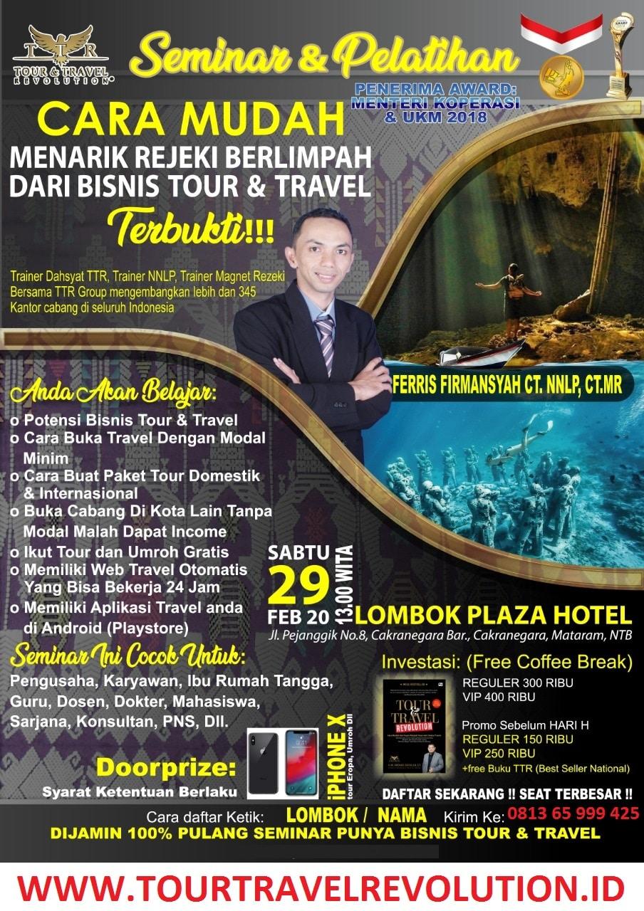 Seminar Tour Travel Revolution Lombok