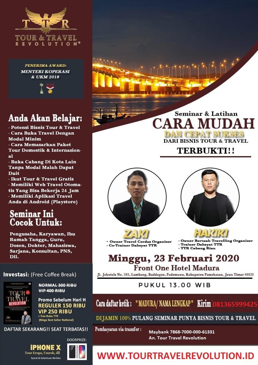 Seminar Tour Travel Revolution Pamekasan Madura