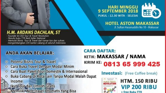 Seminar Tour Travel Revolution Makassar