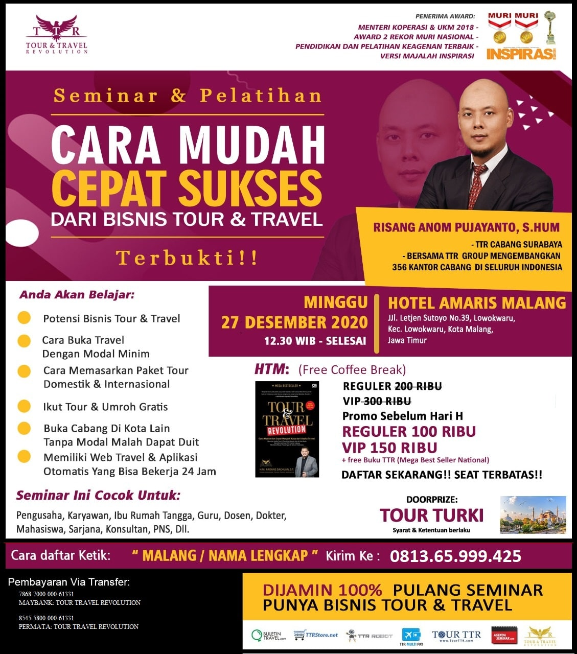 Seminar Tour Travel Revolution Malang
