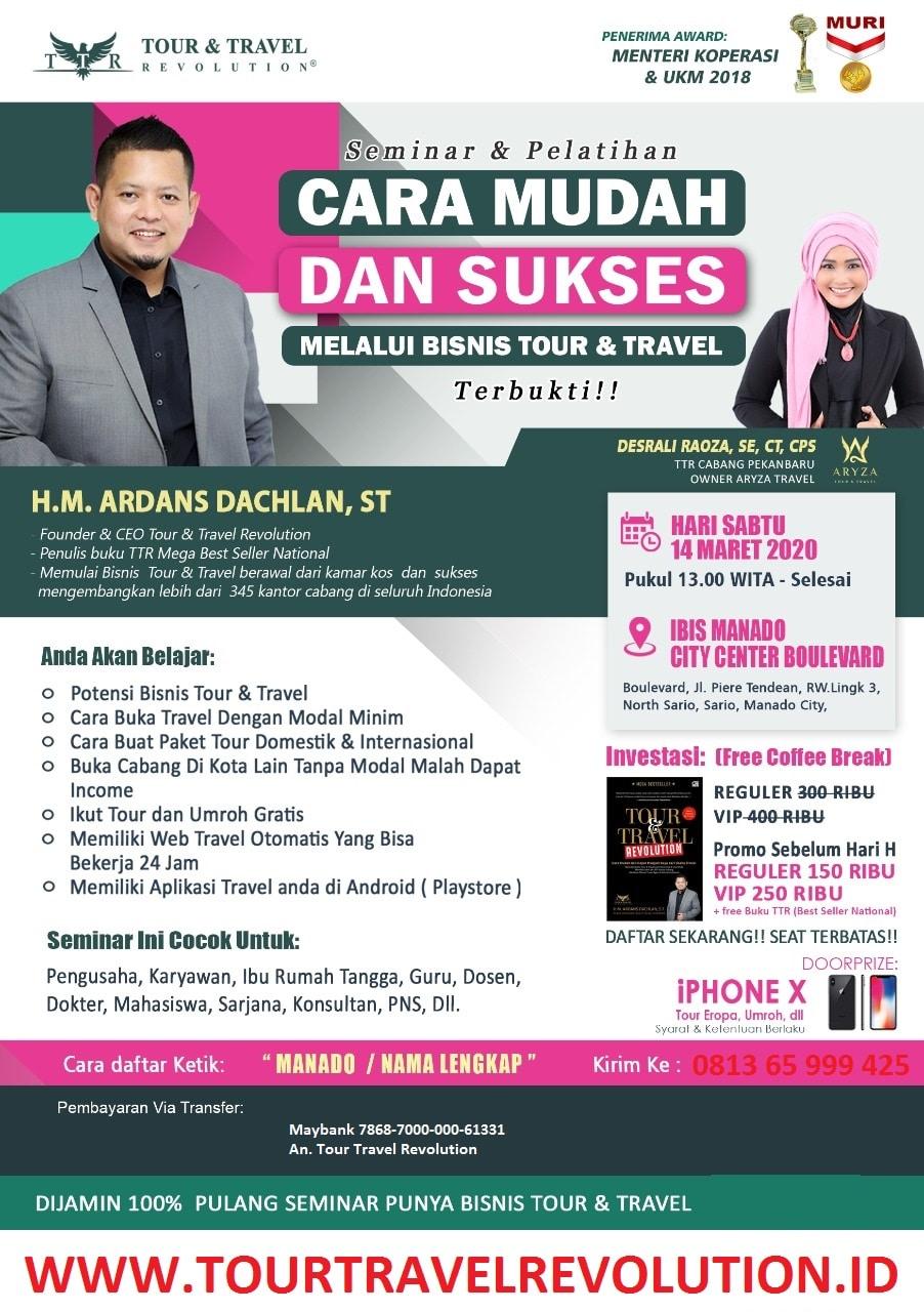 Seminar Tour Travel Revolution Manado