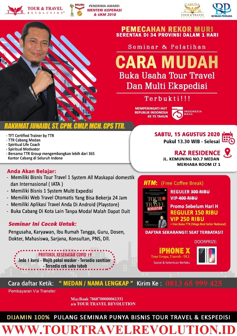 Seminar Tour Travel Revolution Medan