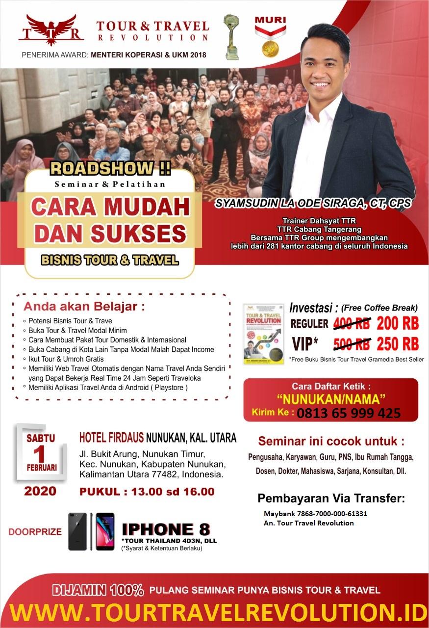 Seminar Tour Travel Revolution Nunukan