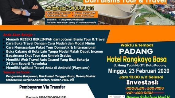 SEMINAR TOUR TRAVEL REVOLUTION PADANG