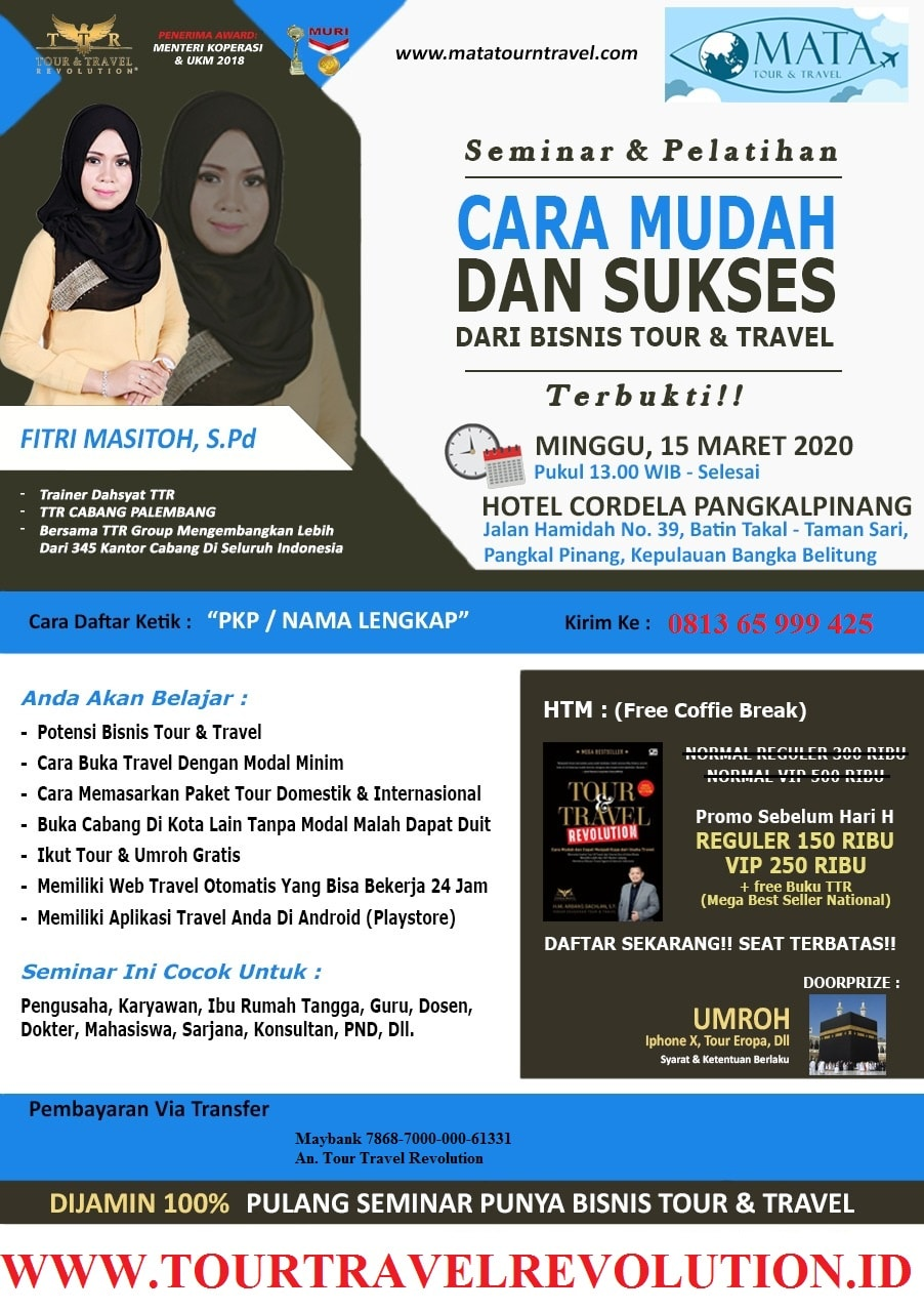 Seminar Tour Travel Revolution Pangkal Pinang