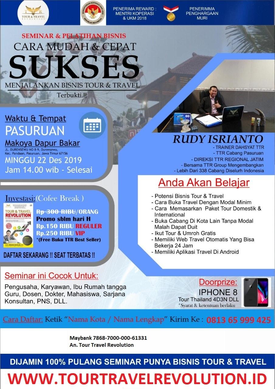 Seminar Tour Travel Revolution Pasuruan