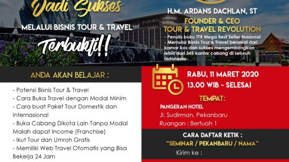 Seminar Tour Travel Revolution Pekanbaru