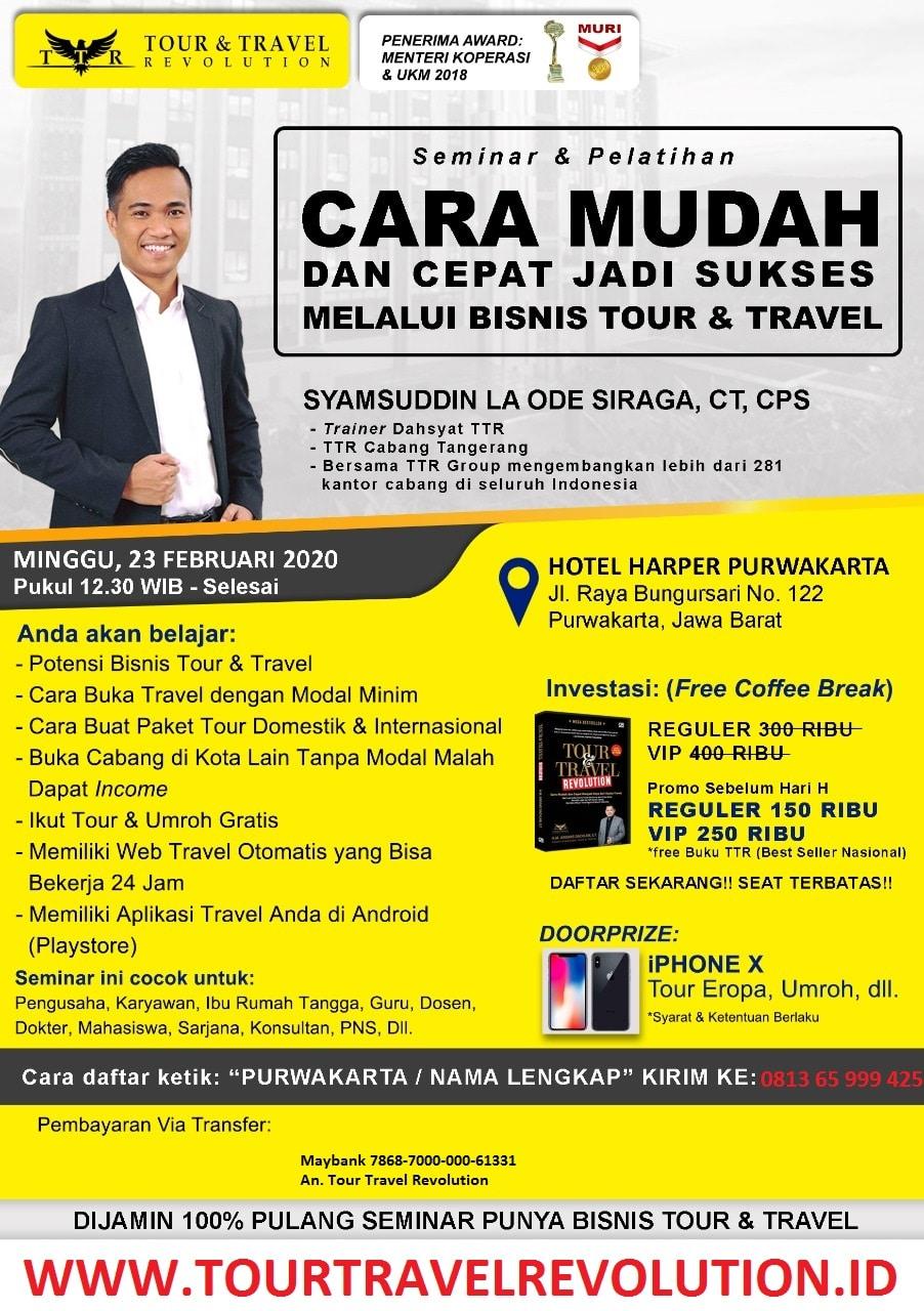 Seminar Tour Travel Revolution Purwakarta