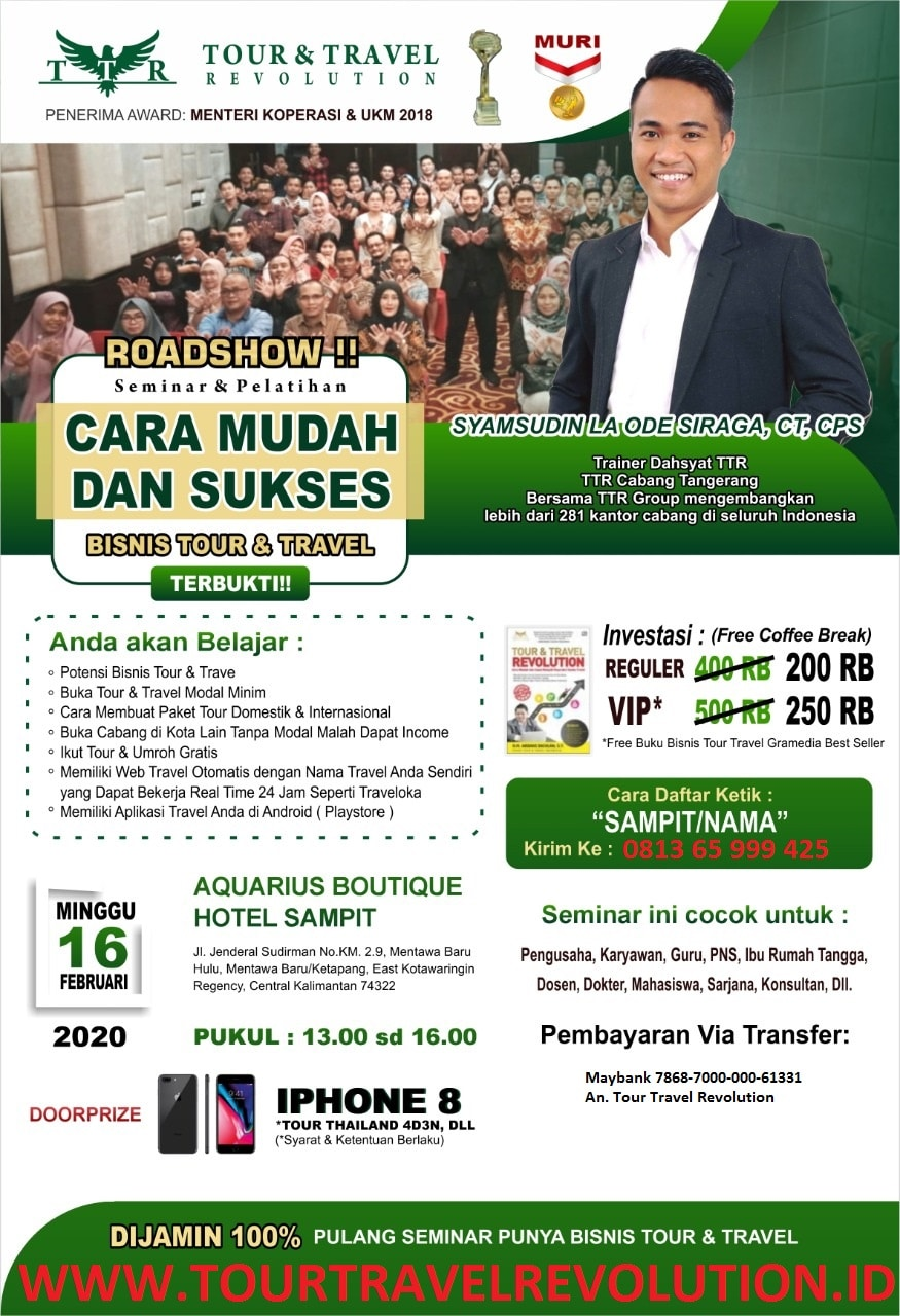 Seminar Tour Travel Revolution Sampit