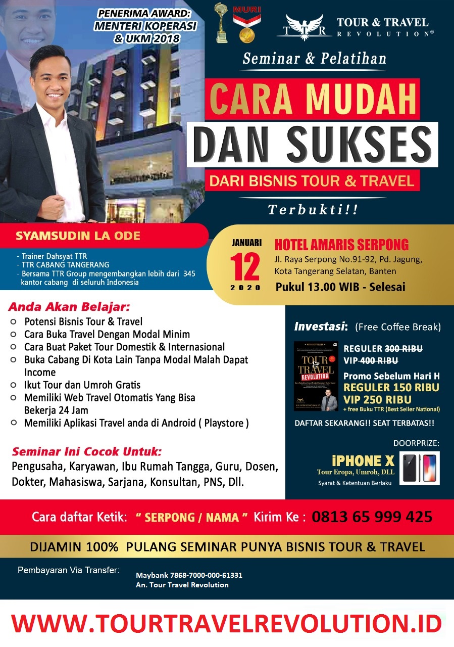 Seminar Tour Travel Revolution Serpong