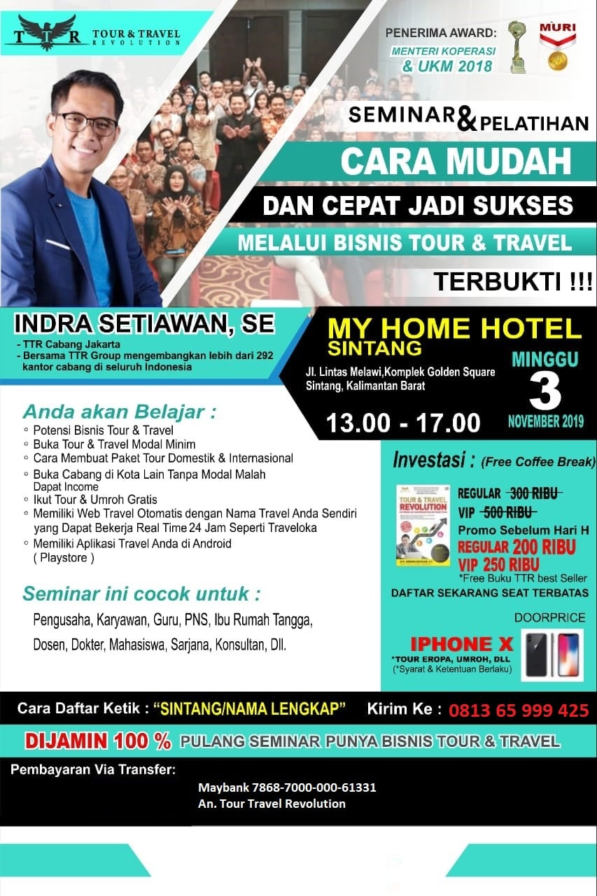 Seminar Tour Travel Revolution Sintang