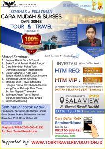 Seminar Tour Travel Revolution Solo