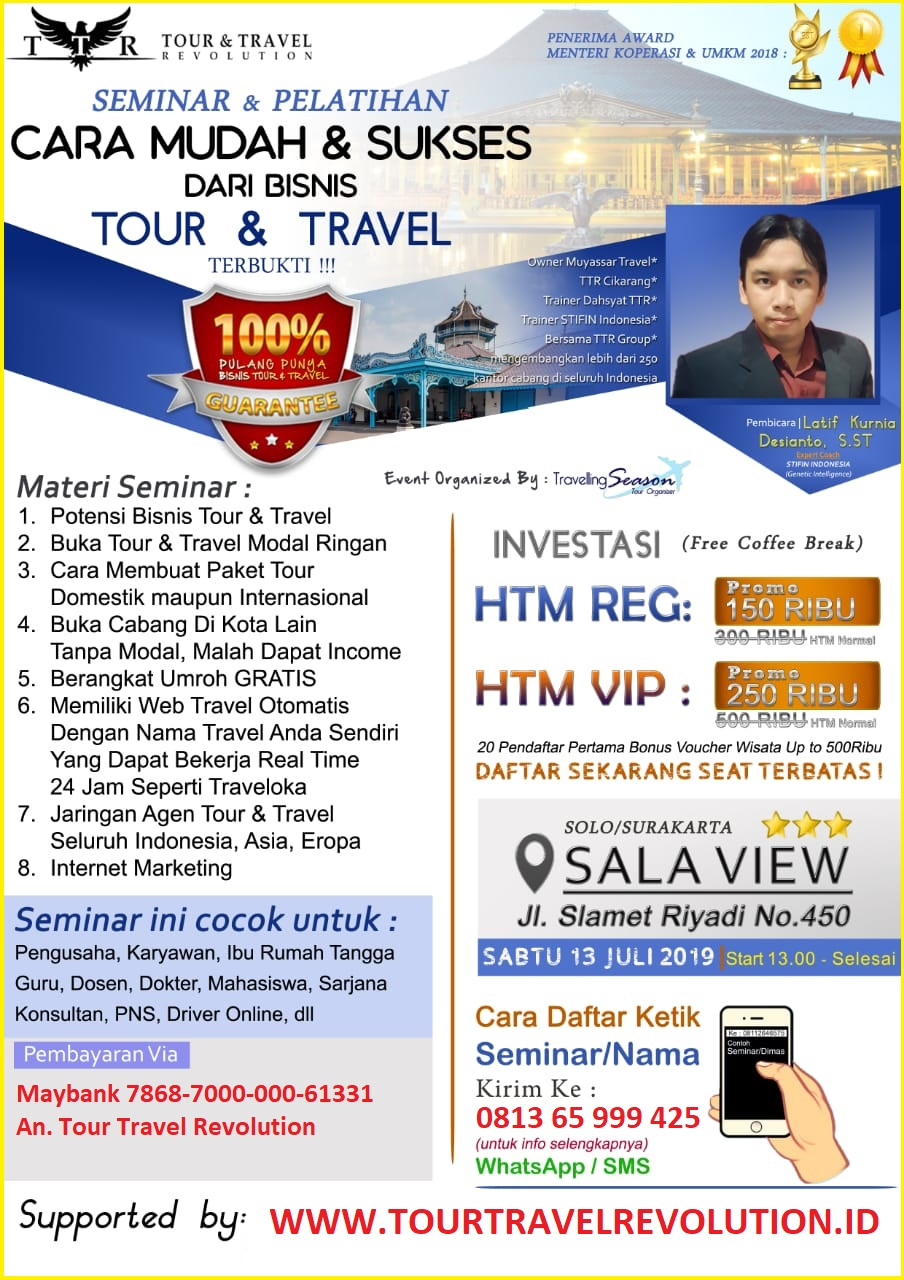 Seminar Tour Travel Revolution Solo