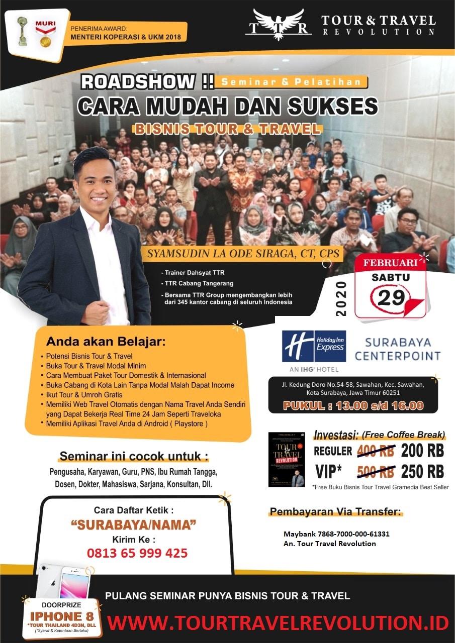 Seminar Tour Travel Revolution Surabaya