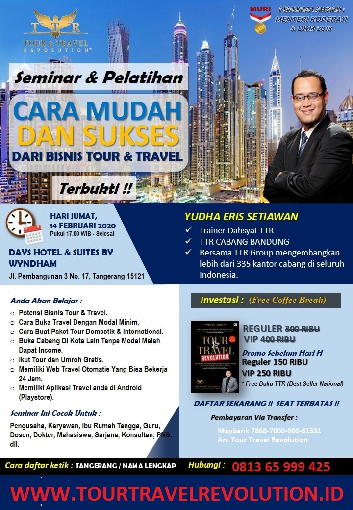 Seminar Tour Travel Revolution Tangerang