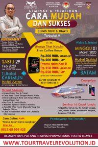 Seminar Tour Travel Revolution Tanjung Balai Karimun
