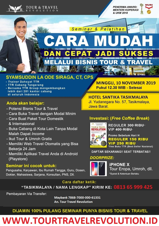 Seminar Tour Travel Revolution Tasikmalaya