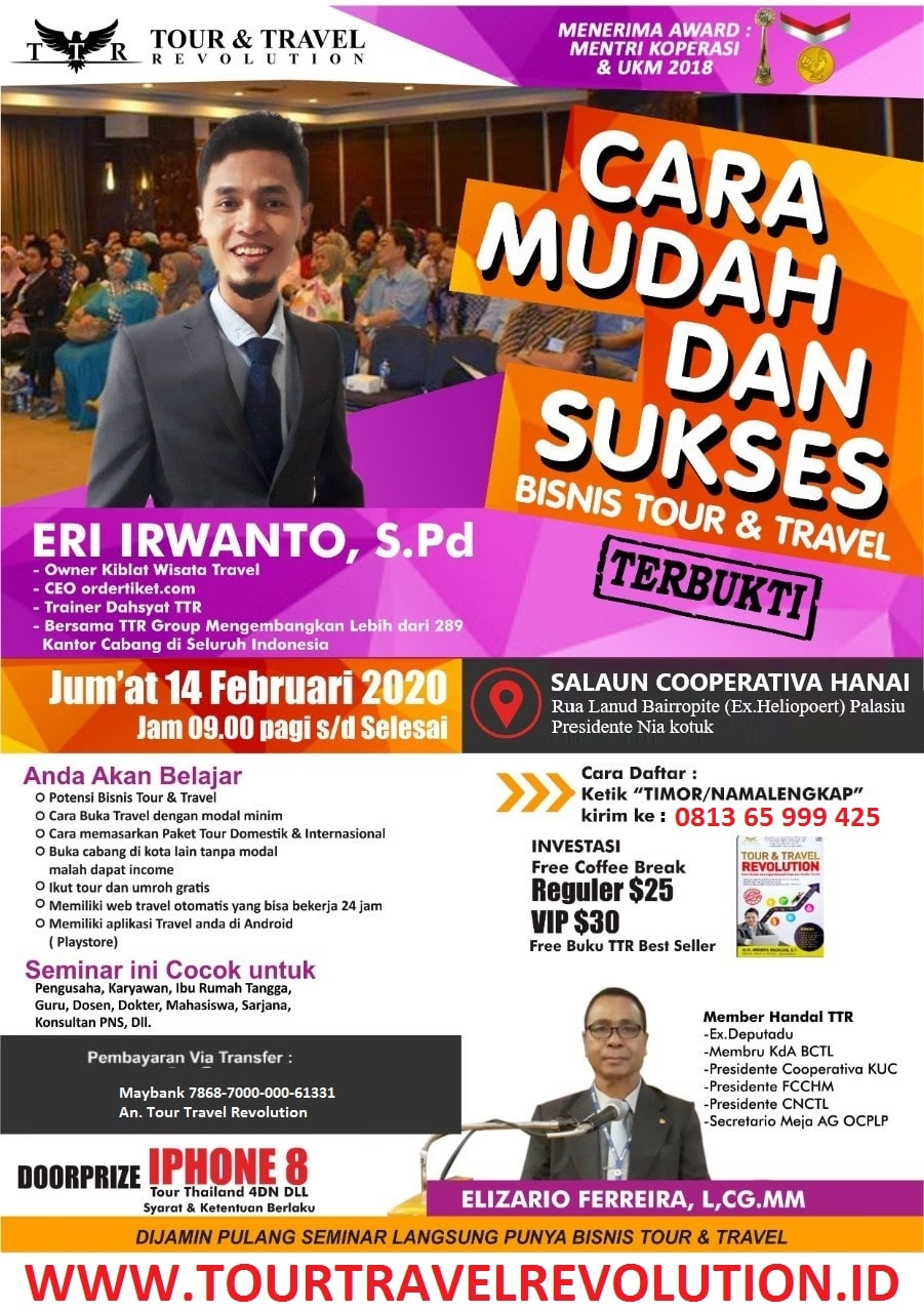 Seminar Tour Travel Revolution Timur Leste