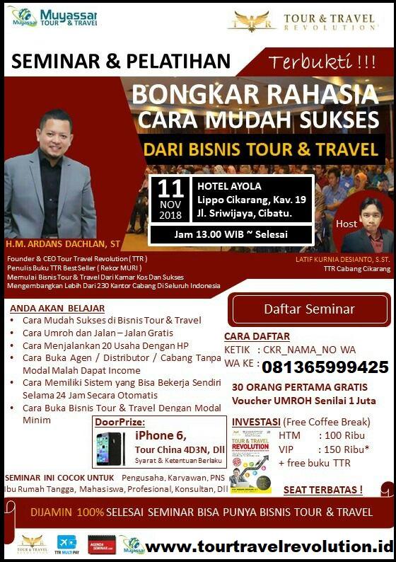 Seminar Tour Travell Revolution Cikarang